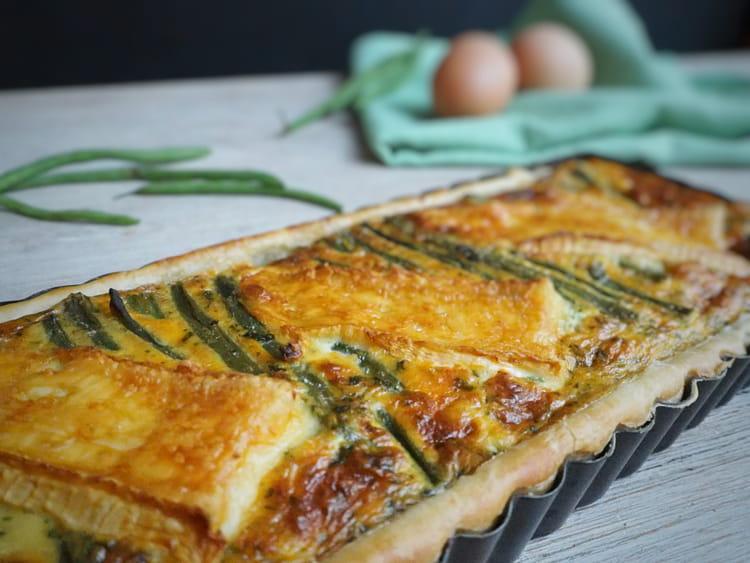 Recette de tarte aux haricots verts et au brie la - Cuisiner des haricots beurre ...
