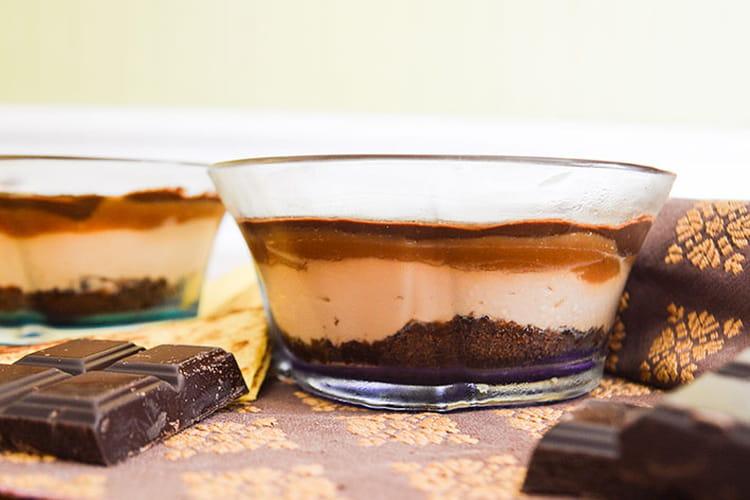 Verrines décadentes au chocolat, mascarpone et caramel
