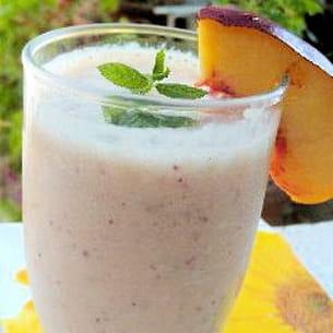 smoothie nectarine et menthe