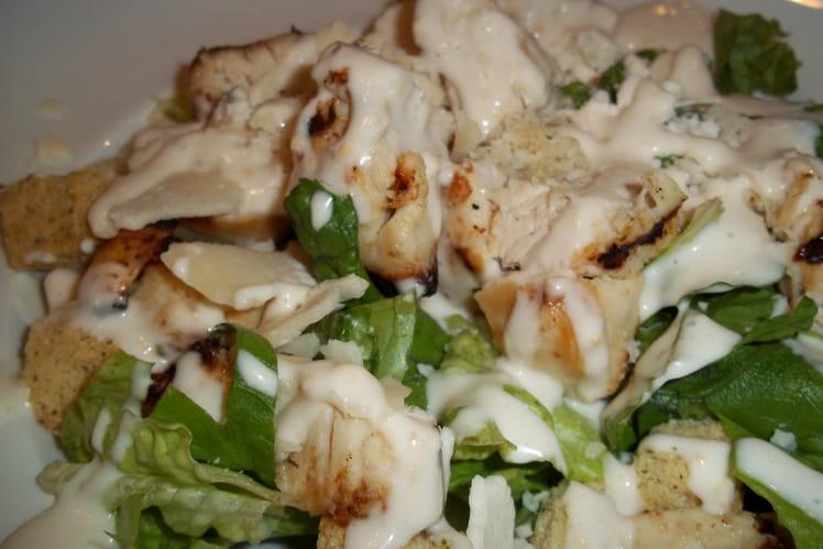 Salade de poulet, sauce parmesan