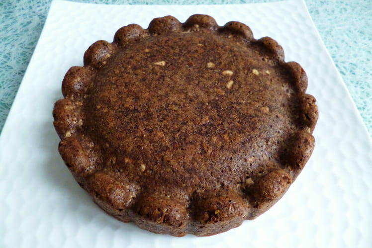 Tofucake caramel cacao chicorée aux pépites de son d'avoine