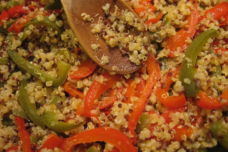 Quinoa aux deux  poivrons
