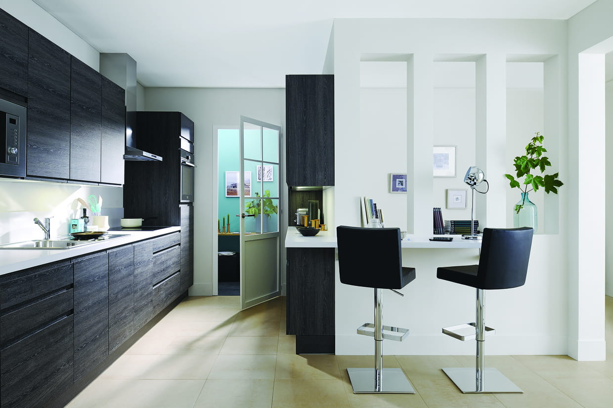cuisine pure de cuisinella. Black Bedroom Furniture Sets. Home Design Ideas