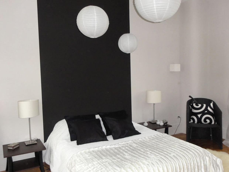 La chambre d 39 amis en noir et blanc - Decoration chambre d amis ...