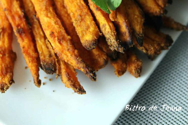 Frites de patates douces bien croustillantes