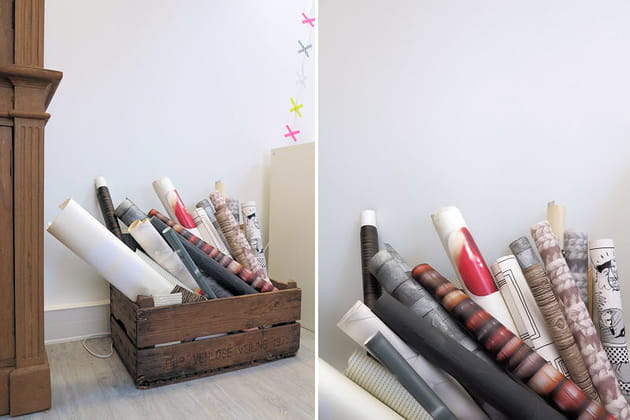 Des chutes de papier peint