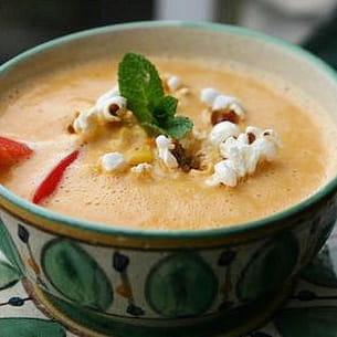 soupe de maïs pimentée
