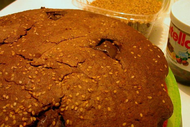 Gâteau au chocolat et sésame