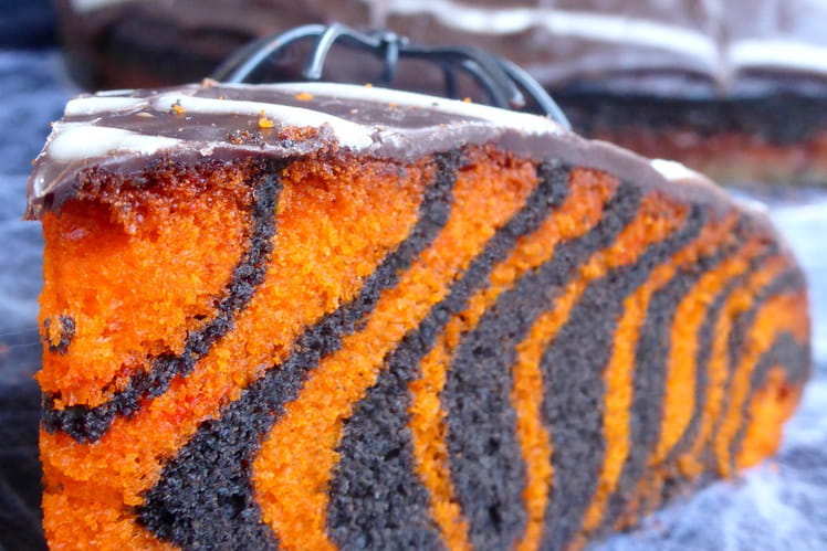 Recette de g teau d halloween facile zebra cake la - Recette gateau halloween facile ...