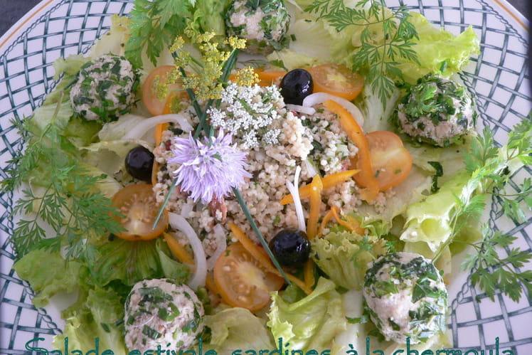 Salade estivale de sardines à la chermoula