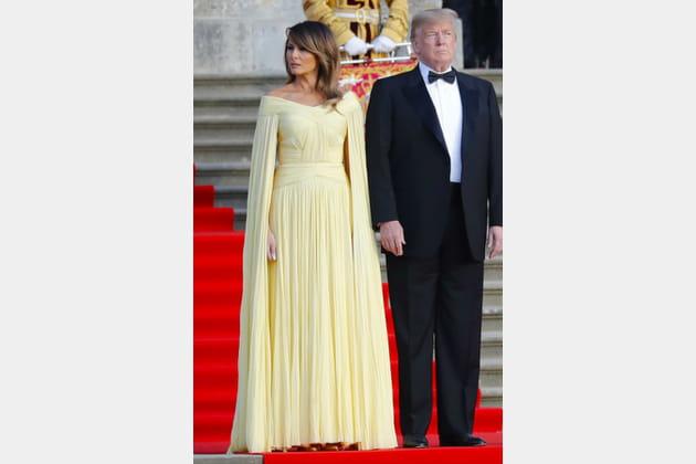 Mélania Trump lors d'une visite officielle en Angleterre