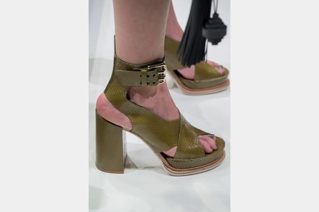 Les sandales du défilé Tod's