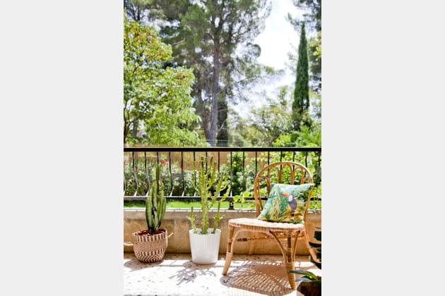 Balcon en rez-de-jardin