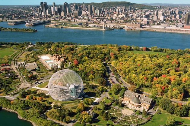 Vue aérienne du Parc Jean-Drapeau