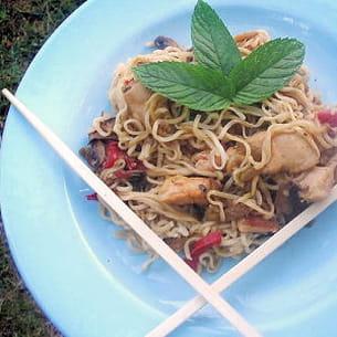 nouilles chinoises faciles au poulet