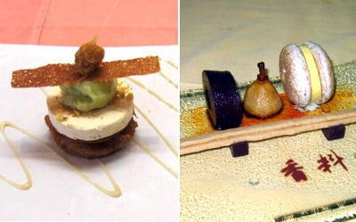 'caramelo', à gauche, et 'déclinaison franco-chinoise', à droite