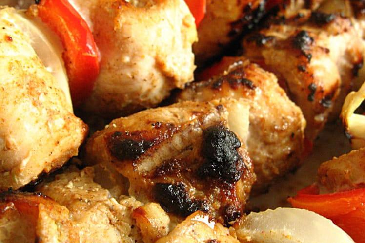 Brochettes de porc marinées au massalé