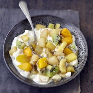 salade de fruits poêlée au carré frais