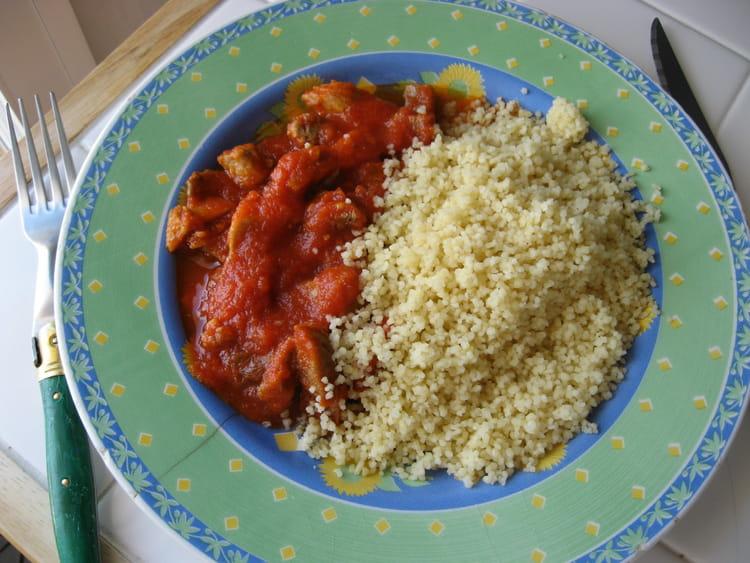 Recette de semoule la sauce tomate et la viande la - Viande facile a cuisiner ...