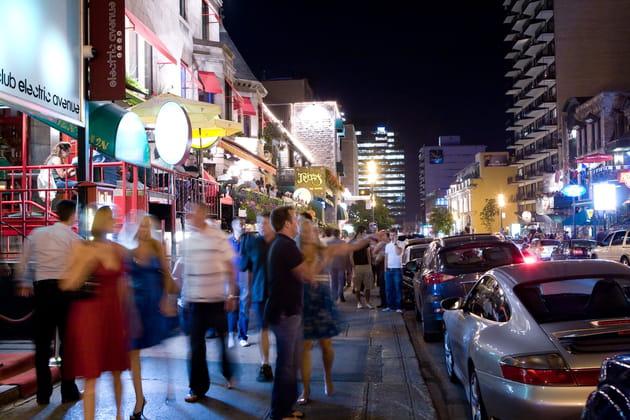 La rue Crescent, idéale en virée nocturne