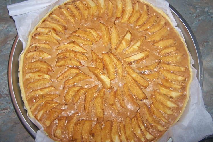 Tarte vergoise aux pommes