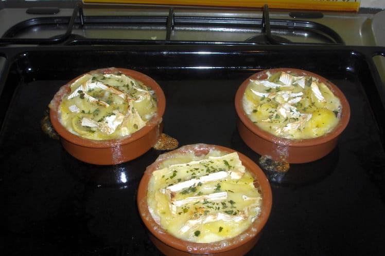 Douceur de pommes de terre au camembert