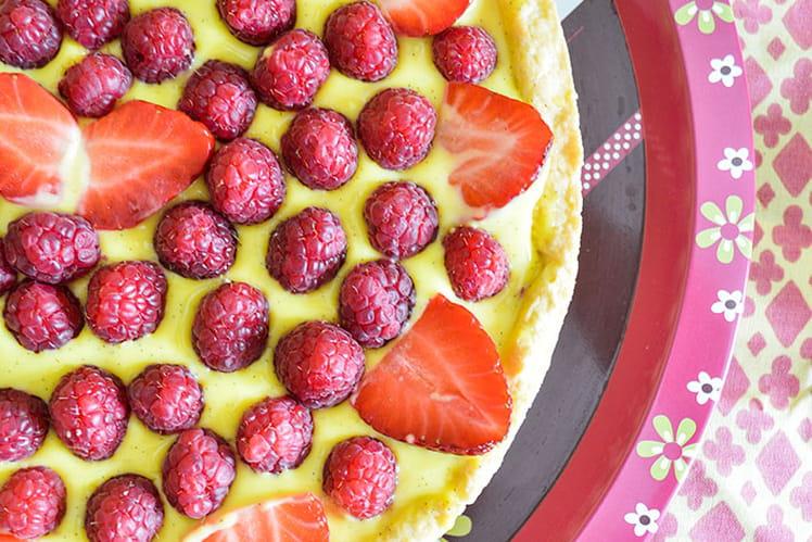 Tarte fraises et framboises