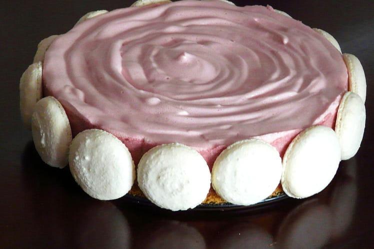 Gâteau mousse chocolat blanc et guimauve