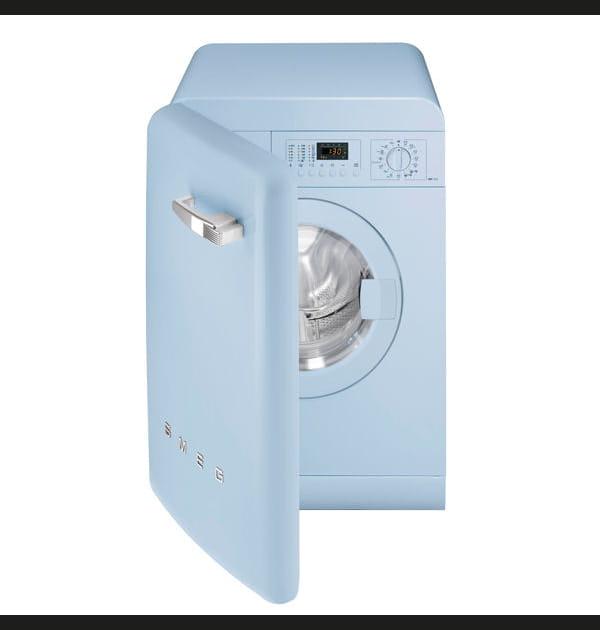 La machine à laver rétro et élégante