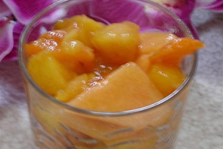 Salade de fruits à l'eau de fleur d'oranger