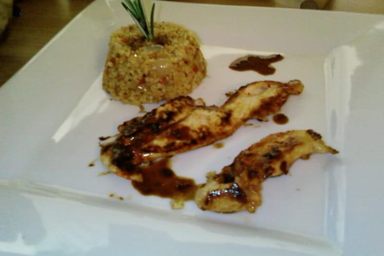 Céréales gourmandes au poulet sauce soja