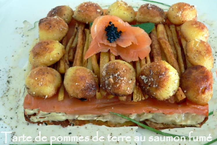 Tarte de pommes de terre au saumon fumé