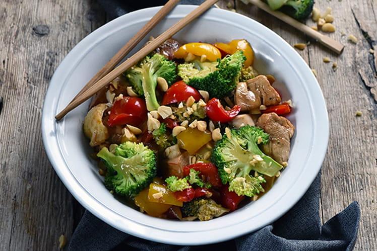 Poulet aux légumes et au gingembre confit