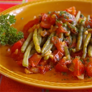 haricots verts à l'italienne.