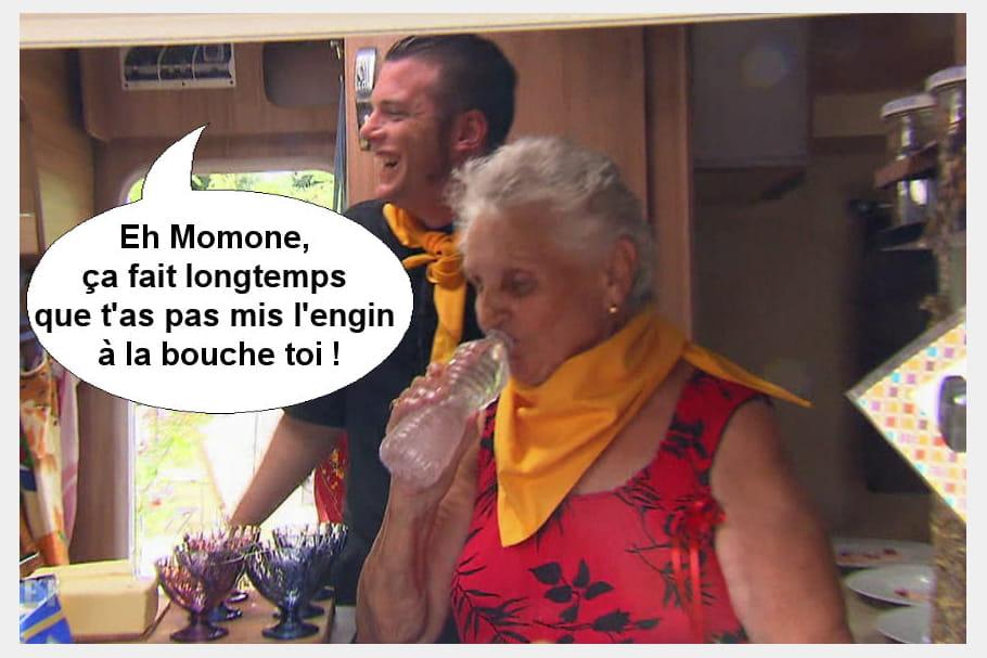Norbert à Simone : Eh Momone, ça fait longtemps que t'as pas mis l'engin à la bouche toi !