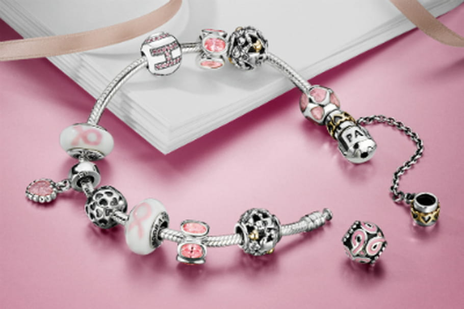 cancer du sein charms pandora