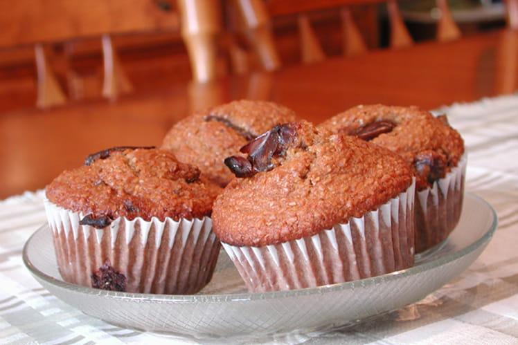 Muffins son, dattes et noix