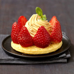 tartelette fraises, mascarpone et café