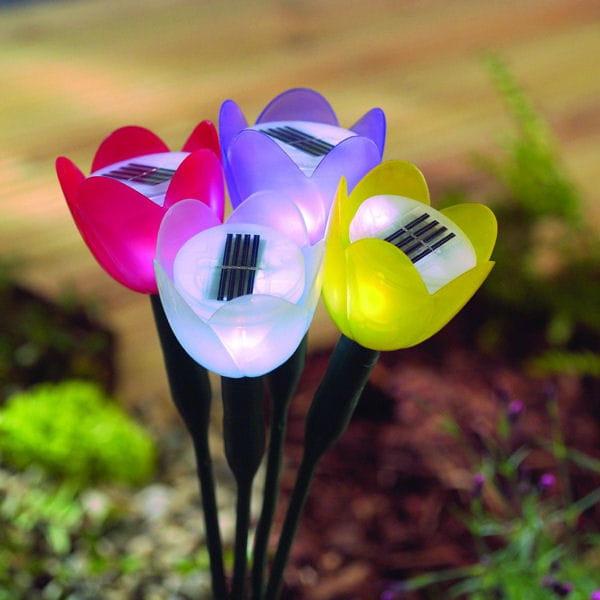 lampes solaire tulipe de jardiland. Black Bedroom Furniture Sets. Home Design Ideas