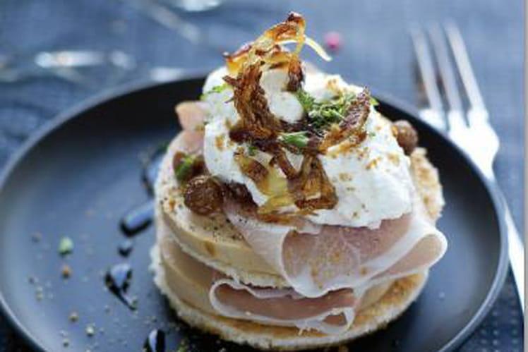 Foie gras et jambon cru, chantilly aux speculoos