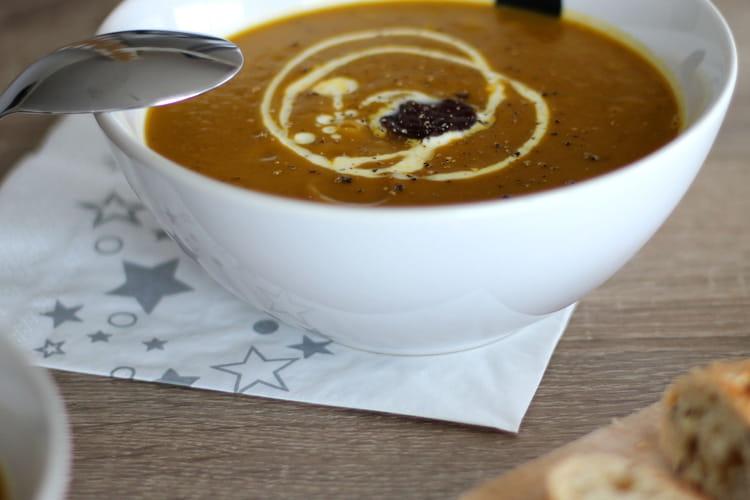 Soupe potimarron et châtaigne