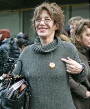 jane birkin au défilé hermès à paris le 10 mars 2010