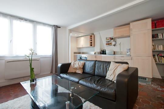 Appartement XVIIIe modernisé par MyHomeDesign : coin salon