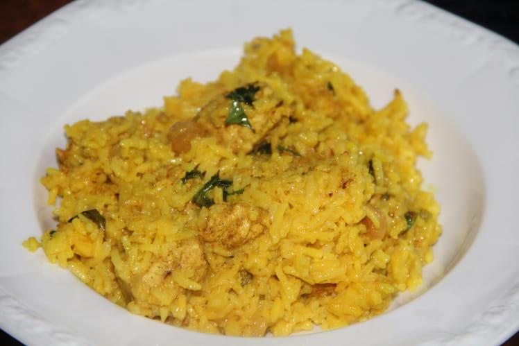 Poulet et riz biryani