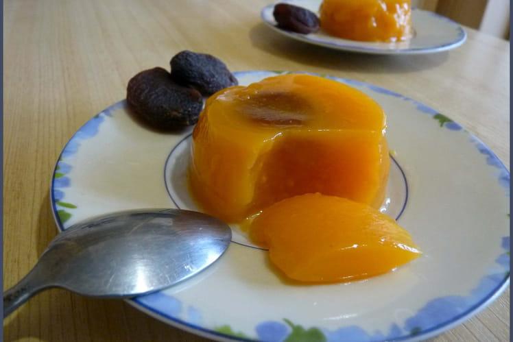 Blanc-manger orange à l'abricot