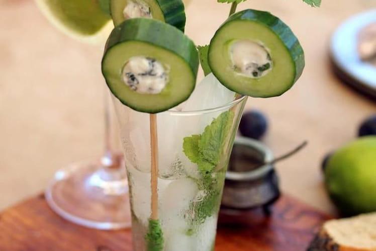 Sucettes de concombre à la ricotta et la menthe fraîche