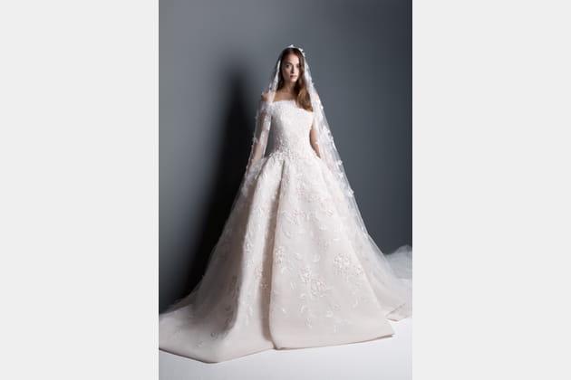 Robe de mariée rose poudré de Georges Hobeika