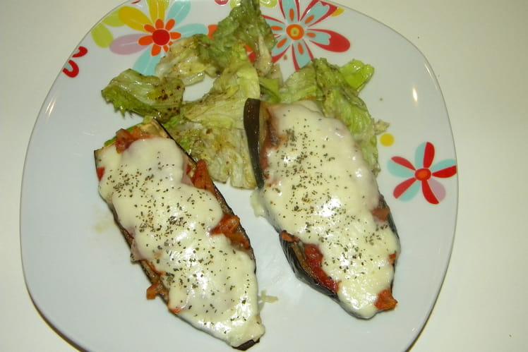 Aubergines  mozzarella au four