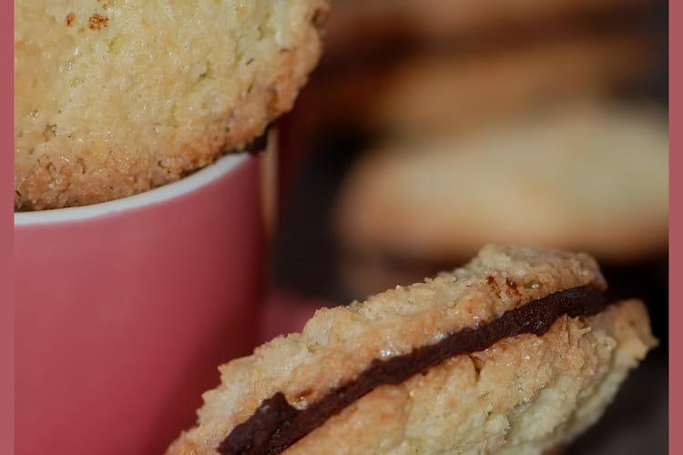 Palets noix de coco et chocolat