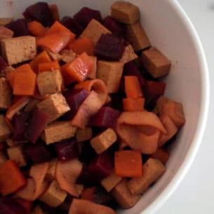 tagliatelles de surimi, betterave & coca